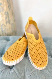 Tulip Slip On With White Sole Golden Rod
