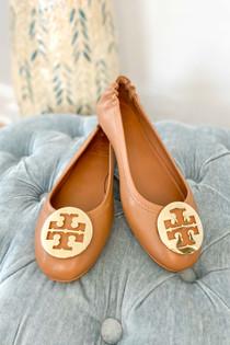 Minnie Travel Ballet - Royal Tan & Gold