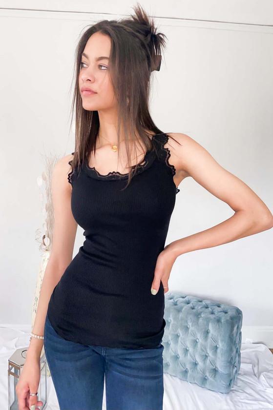 Babette Silk Top - Black