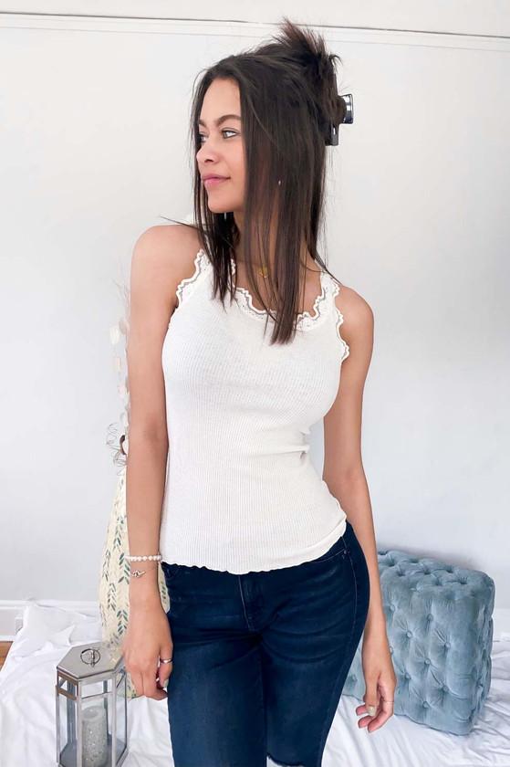 Babette Silk Top - White