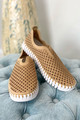 Tulip Slip On With White Sole - Latte