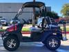 Red - Fully Loaded Cazador OUTFITTER 200 EFI Golf Cart 4 Seater UTV