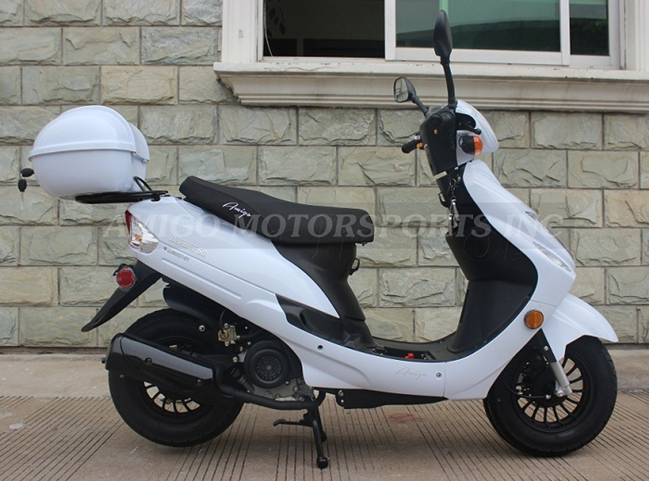 Amigo Beemer-50 49cc Moped Scooter 4 Stroke Single Cylinder Ca Approved