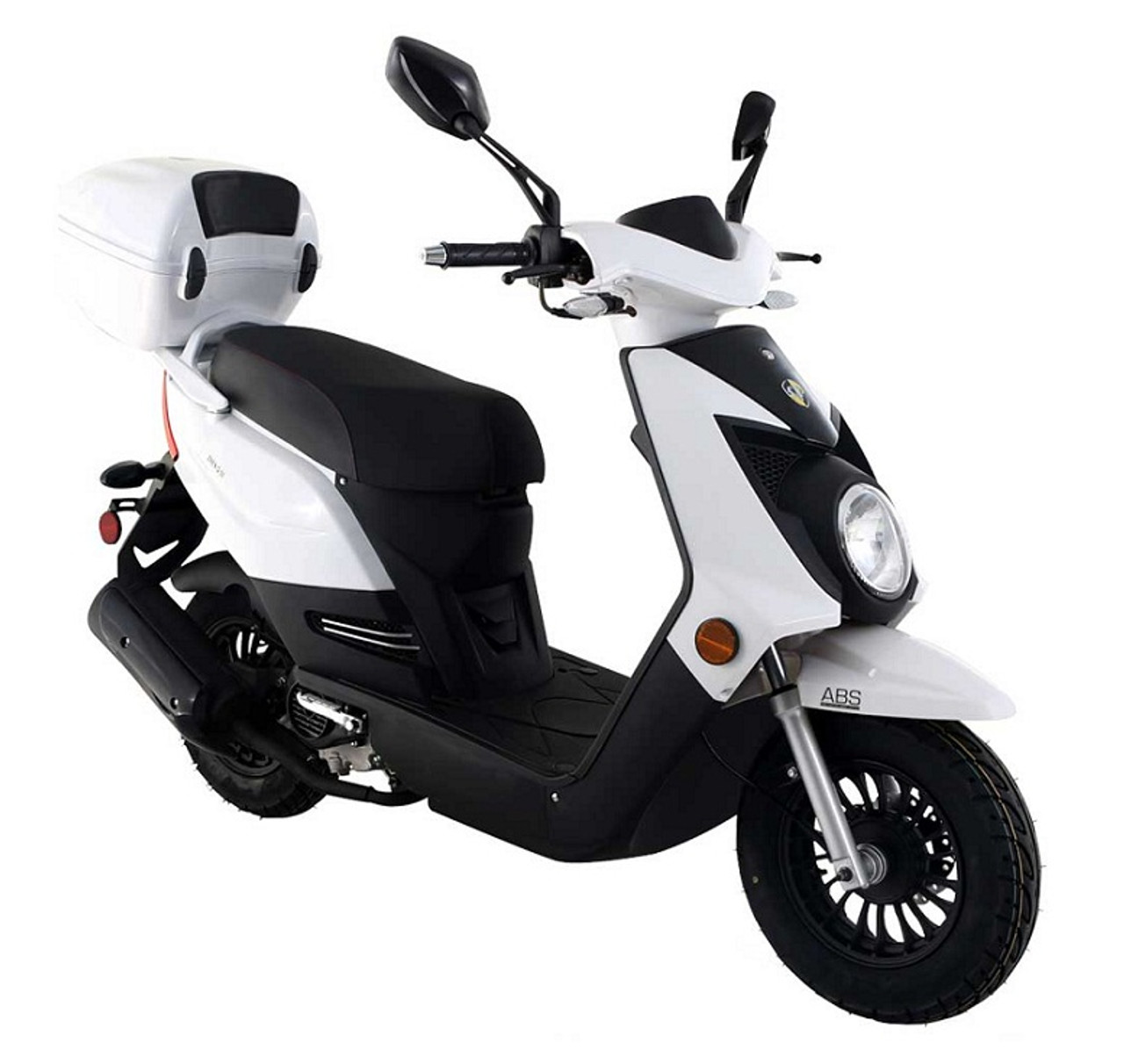 Amigo Q-50-SA 4 Stroke Gas Moped Scooter, Remote Start, USB Port, Alarm, Front ABS