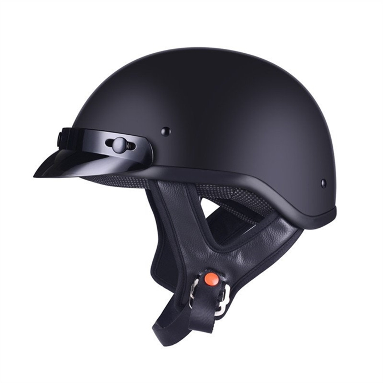 AMZ CRUISING HALF FACE MOTORCYCLE MATTE BLACK  HELMET