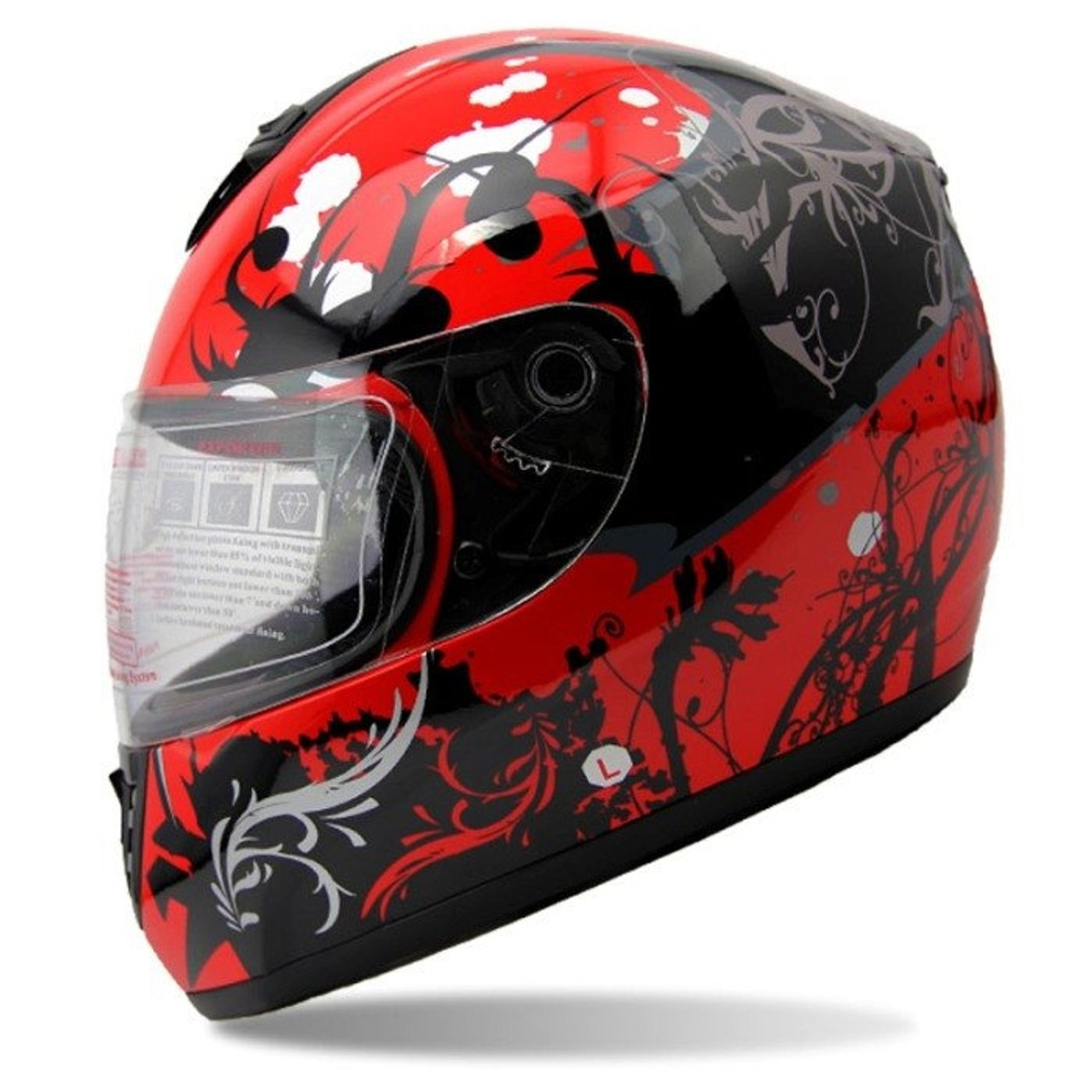 SPEEDING FULL FACE RED HELMET