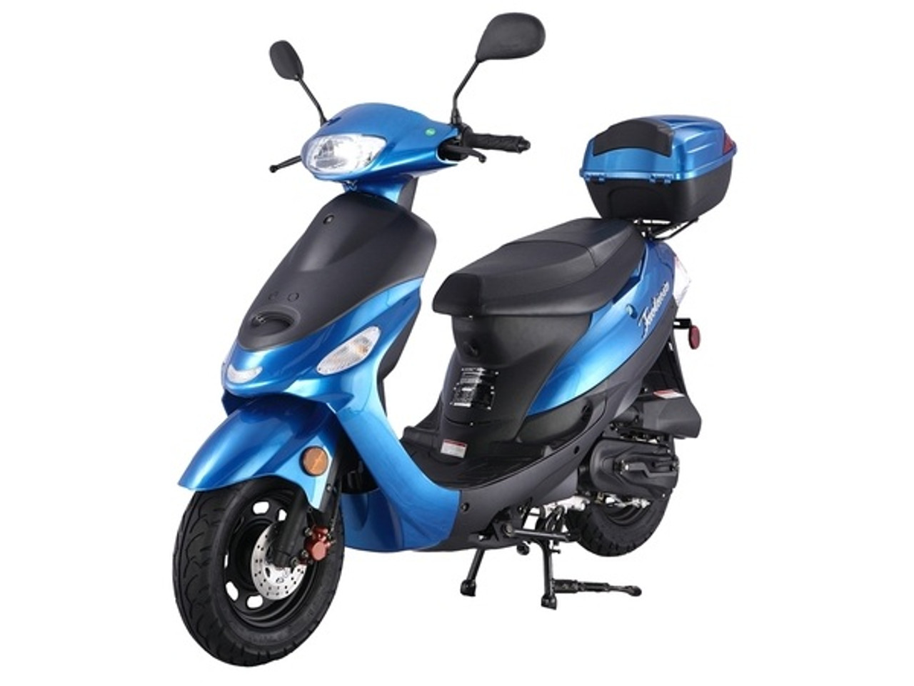 Taotao ATM 50-A1 Gas Street Legal Scooter, Electric with keys, kick start back up Scooter