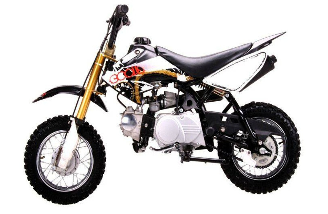 Coolster High End Dirt Bike Pit Bike QG-210 70CC, Air-Cooled Single-Cylinder Four-Stroke - Fully Assembled And Tested