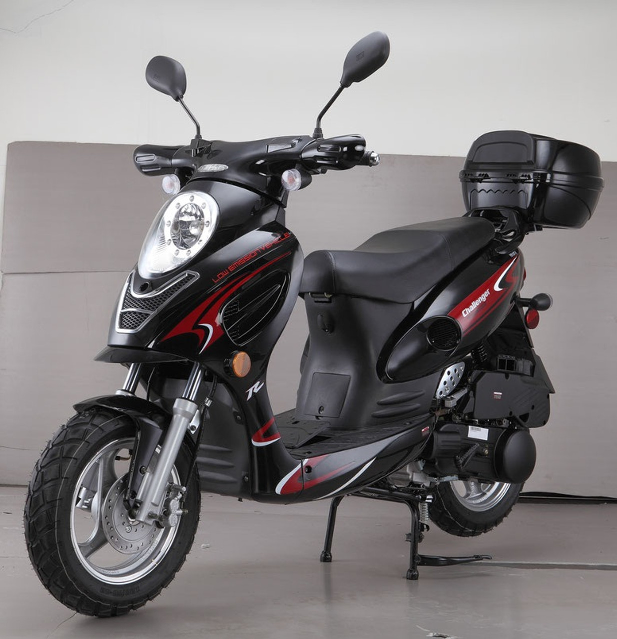 Cougar Cycle CHALLENGER 50cc Scooter, 4 Stroke, Air-Forced Cool,Single Cylinder