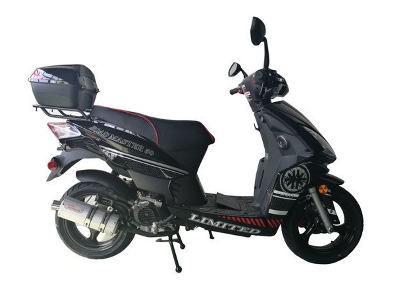 Cougar Cycle ROAD MASTER 150cc Scooter, 4 Stroke,Single Cylinder,Air-Forced Cool