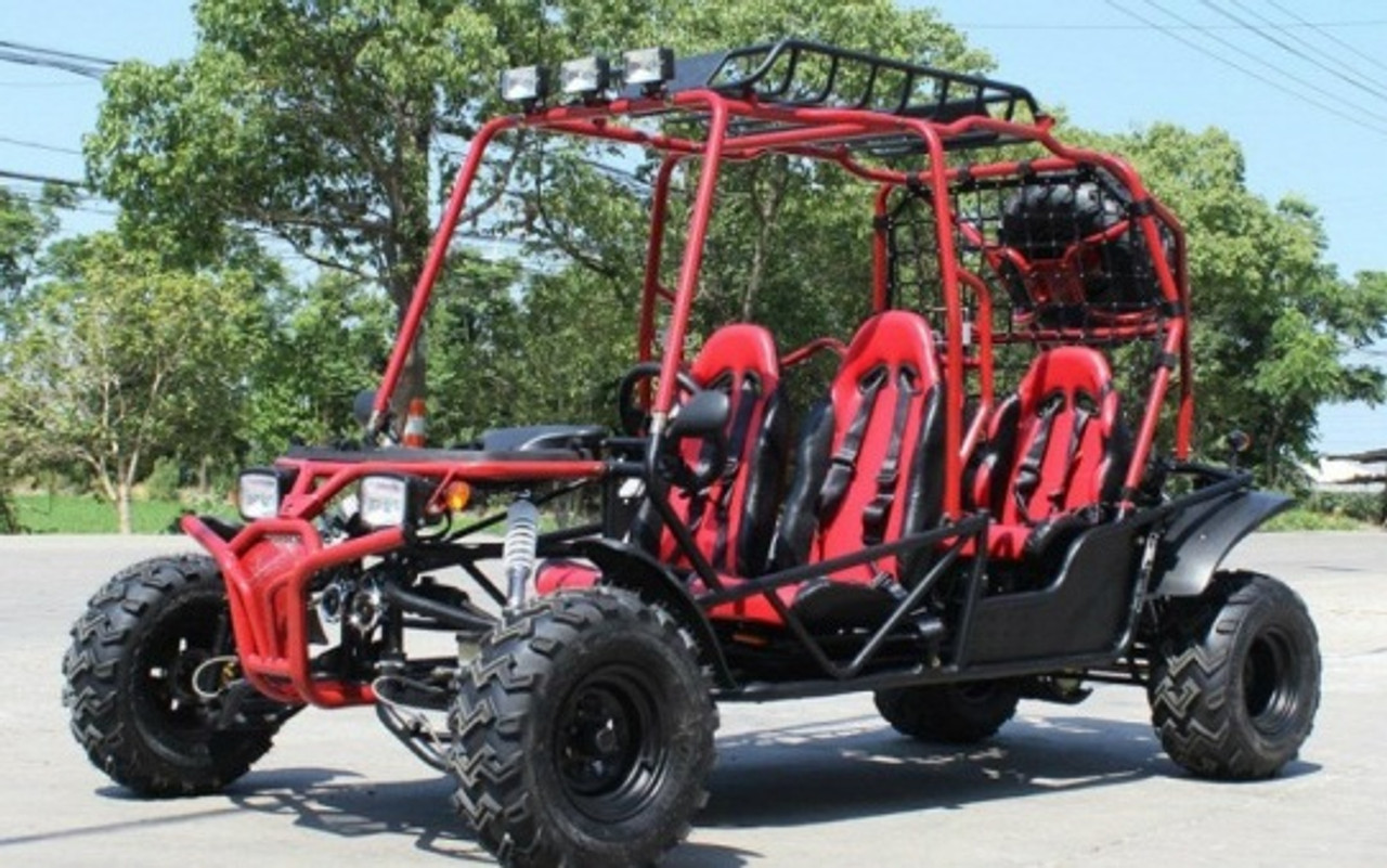 Dongfang 170cc Hummer 4 Seater Go Kart with Automatic Transmission w/Reverse, 4-Stroke, Air-Cooled Single Cylinder
