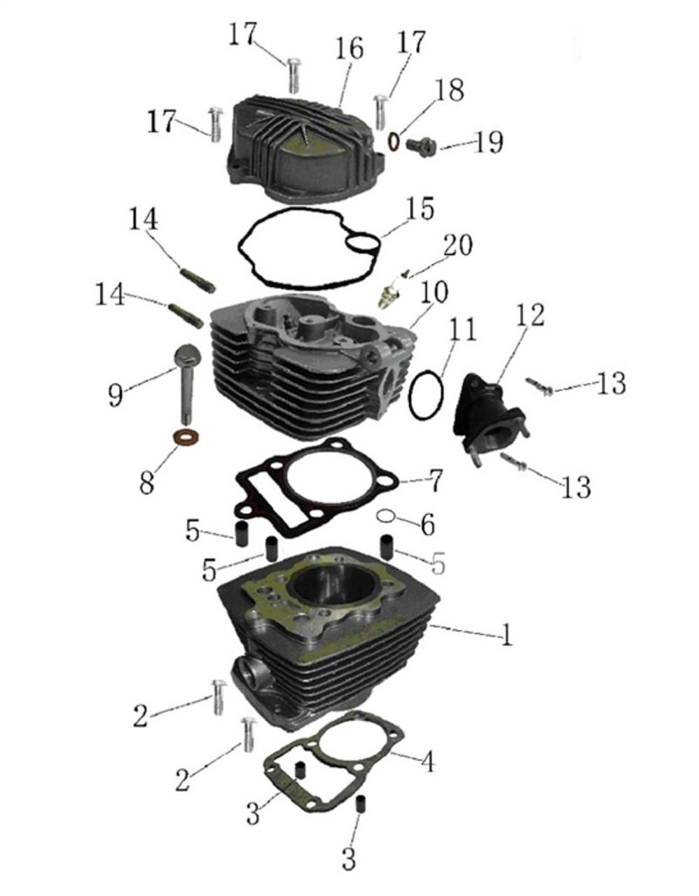 Hawk 250 Gasket, cylinder head