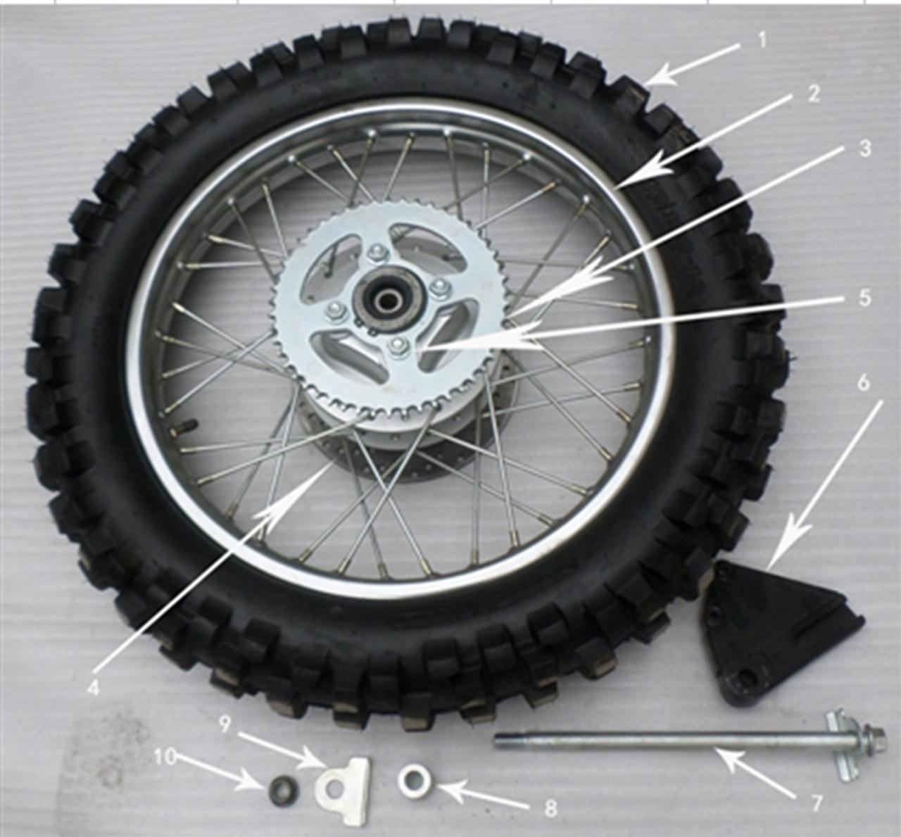 Hawk 250 Rear tire