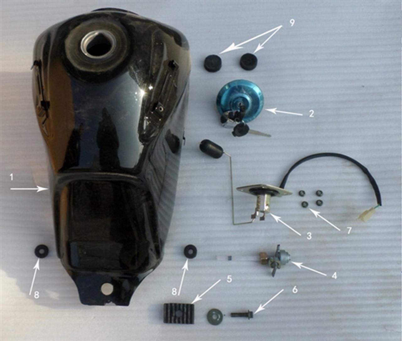 Hawk 250 Gas cap with key