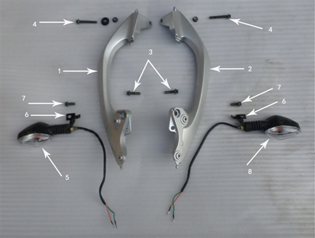 Hawk 250 Bracket for rear turn light and rear armrest