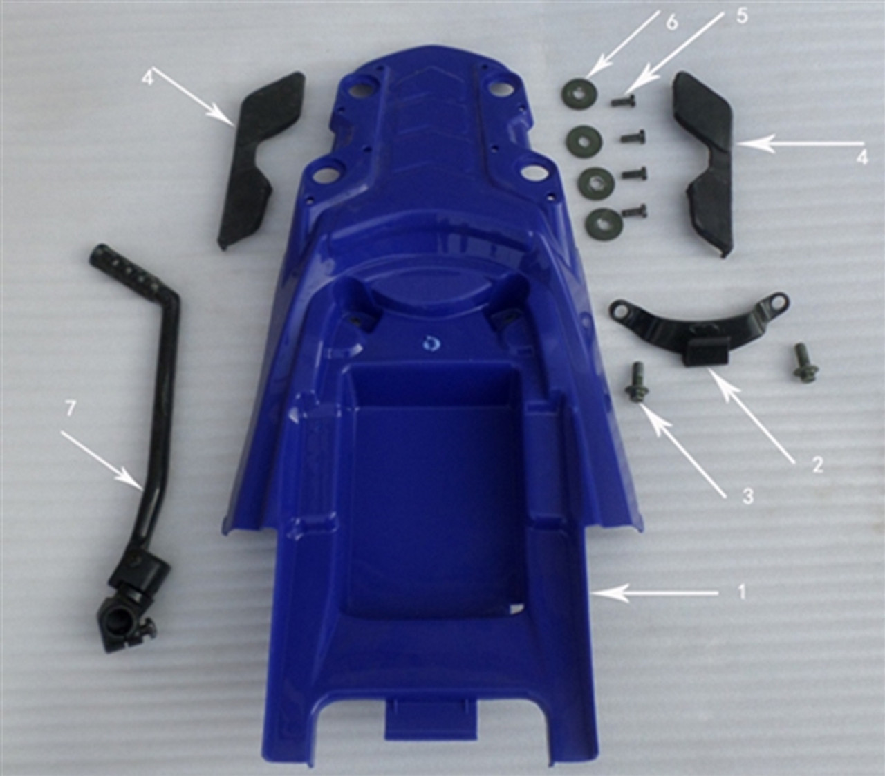 Hawk 250 Bracket for tail cover