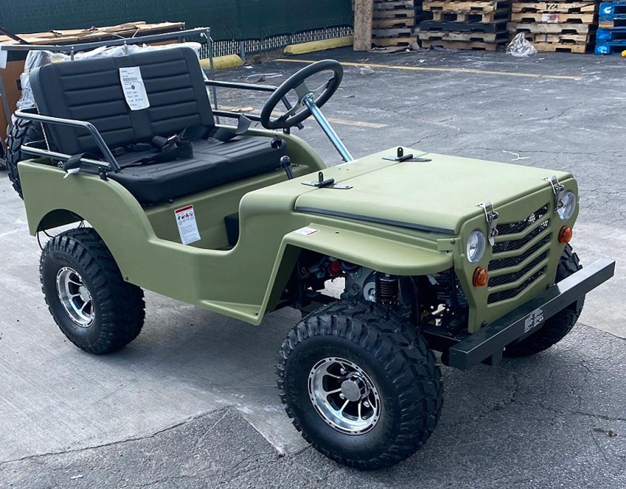 Ice bear Jeep Off-Road 125cc Mini Go-Kart/ Golf Cart - Disc Brakes - Over-Size Tires