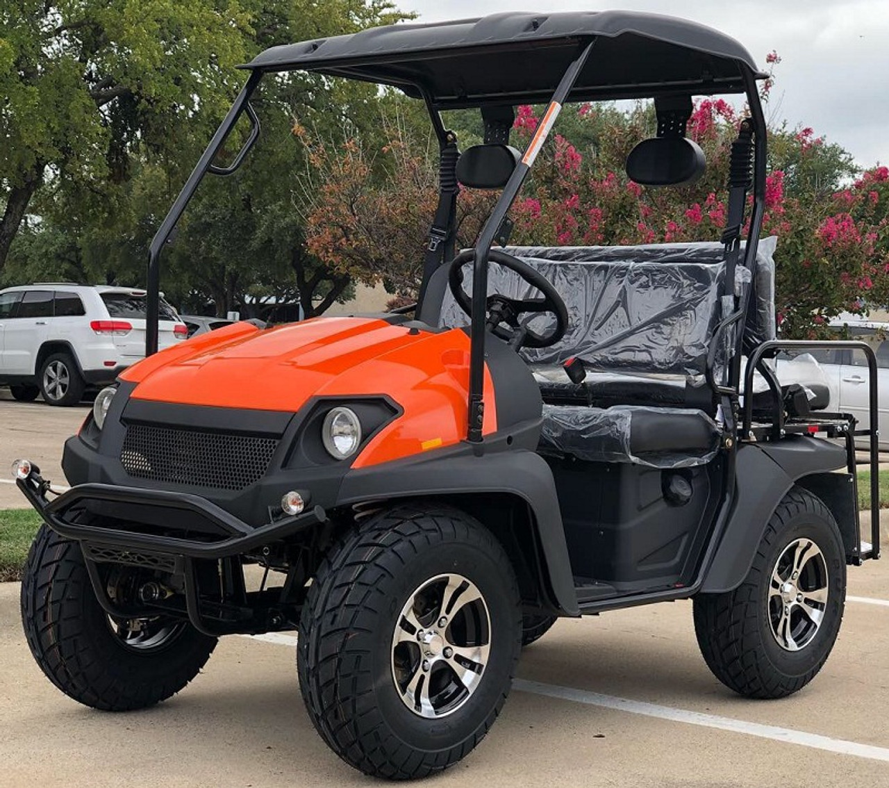 Orange - Fully Loaded Cazador OUTFITTER 200 Golf Cart 4 Seater Street Legal UTV