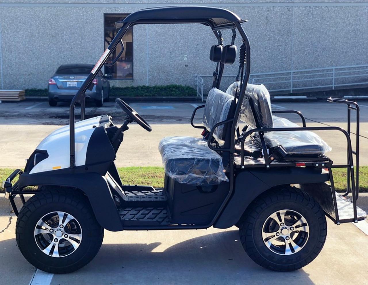 White- Fully Loaded Cazador OUTFITTER 200 Golf Cart 4 Seater Street Legal UTV