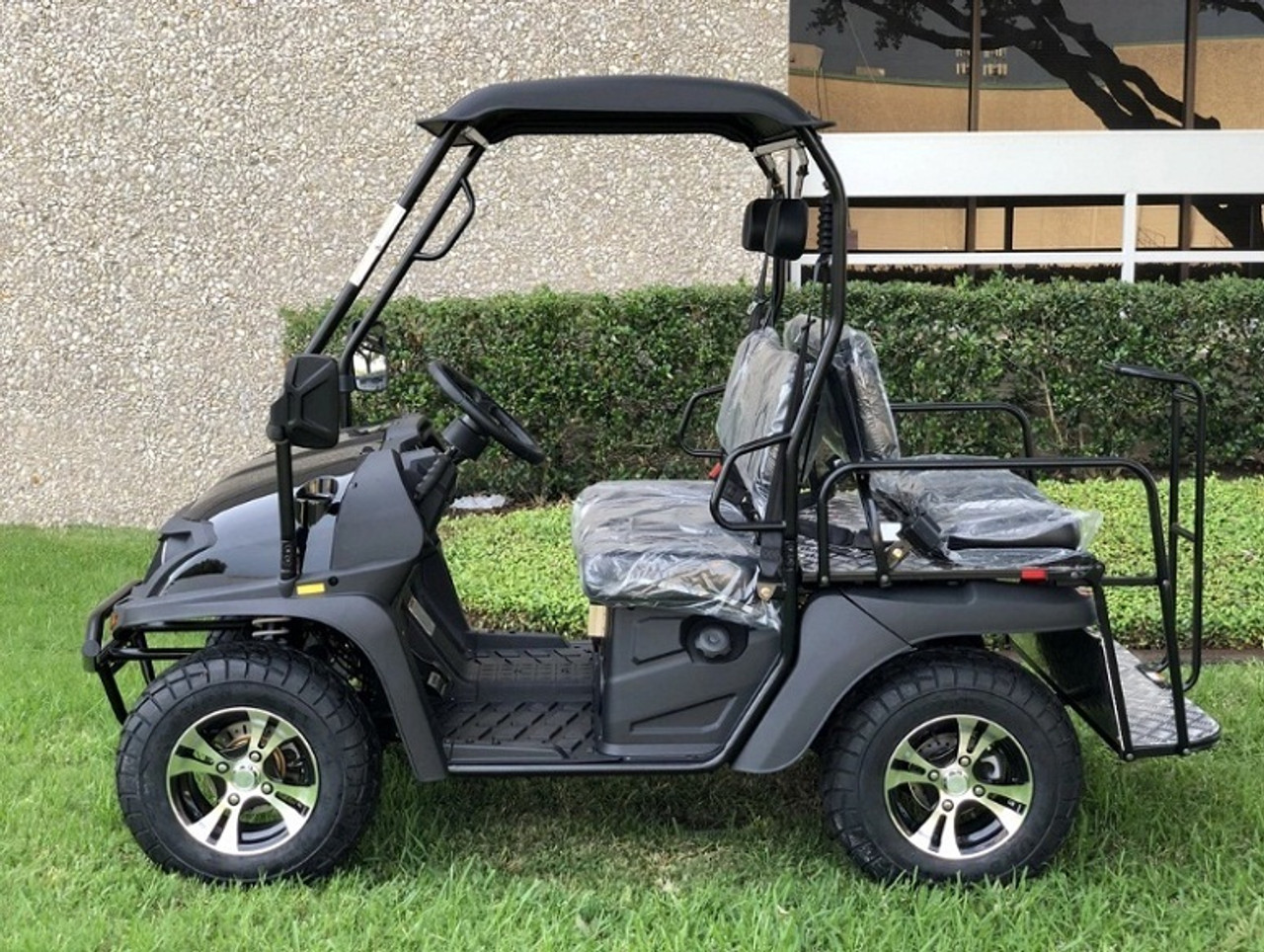 Black- Fully Loaded Cazador OUTFITTER 200 Golf Cart 4 Seater Street Legal UTV - Fully Assembled and Tested