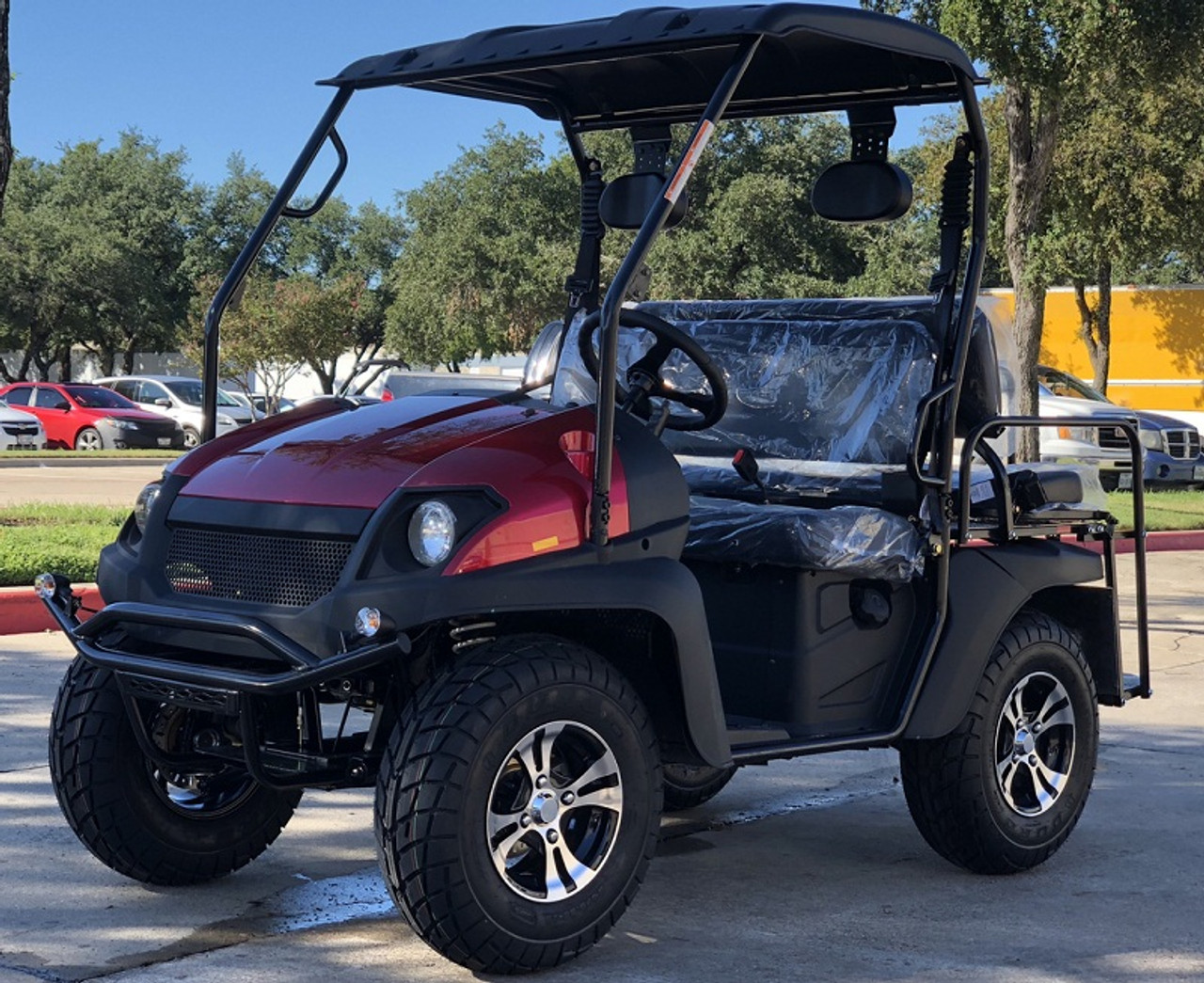 Red- Fully Loaded Cazador OUTFITTER 200 Golf Cart 4 Seater Street Legal UTV - Fully Assembled and Tested