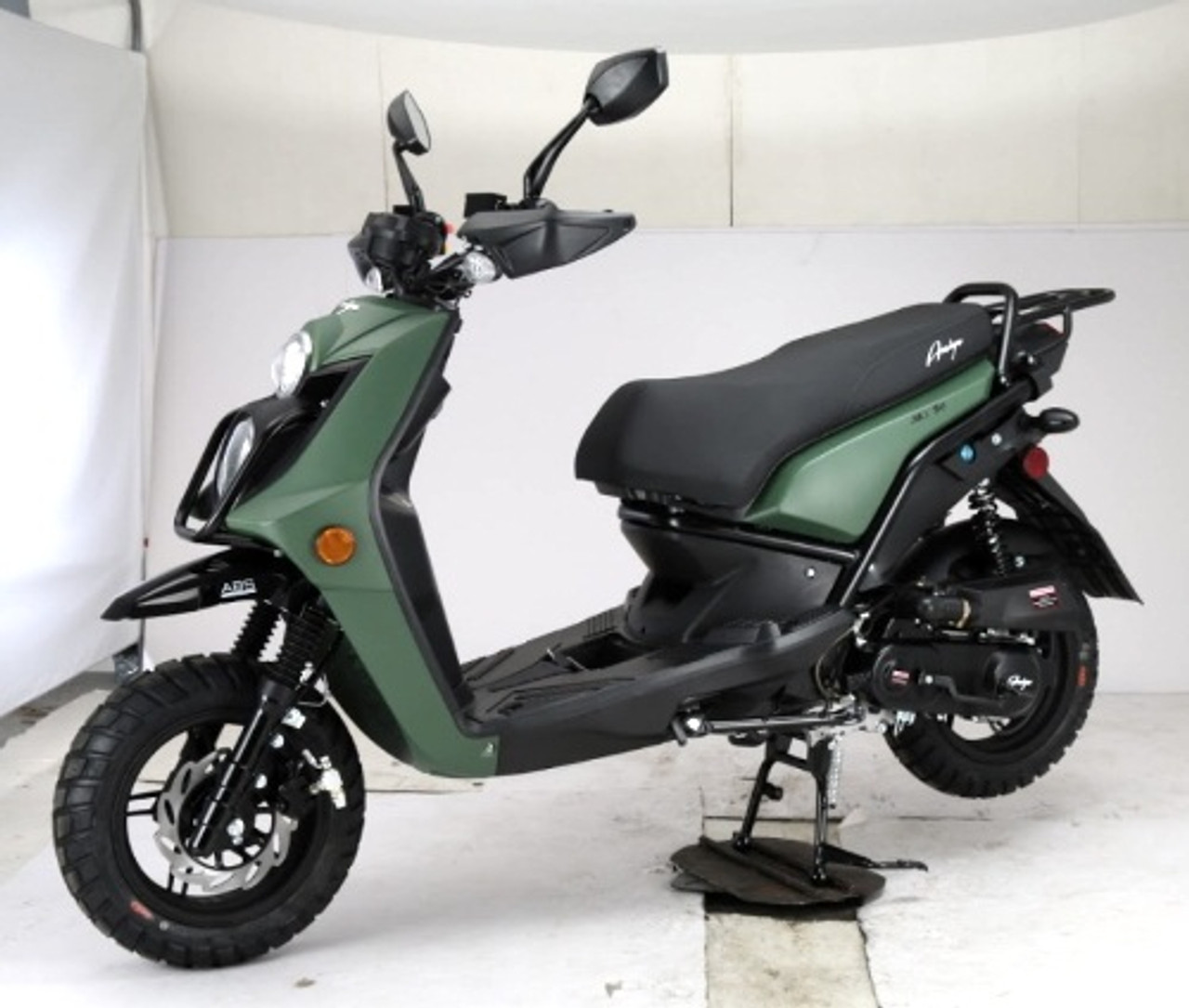 Amigo JAX-50 8.5 HP Gas Moped Scooter, 4-Stroke, Air Cooled, Fully Automatic, Electric and Kick Start (AMIGO-JAX-50)
