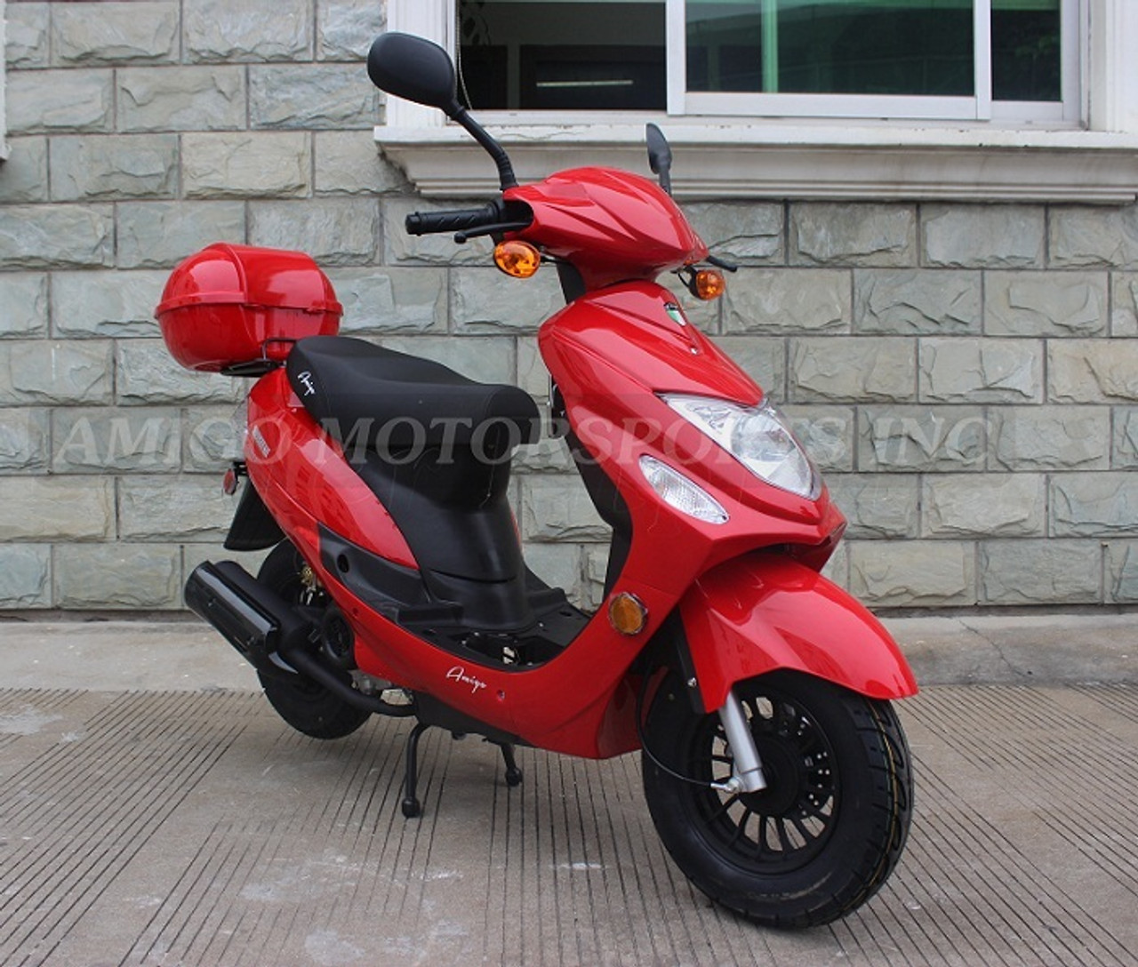 Amigo 2018 Beemer-50 49cc Moped Scooter 4 Stroke Single Cylinder CA Approved