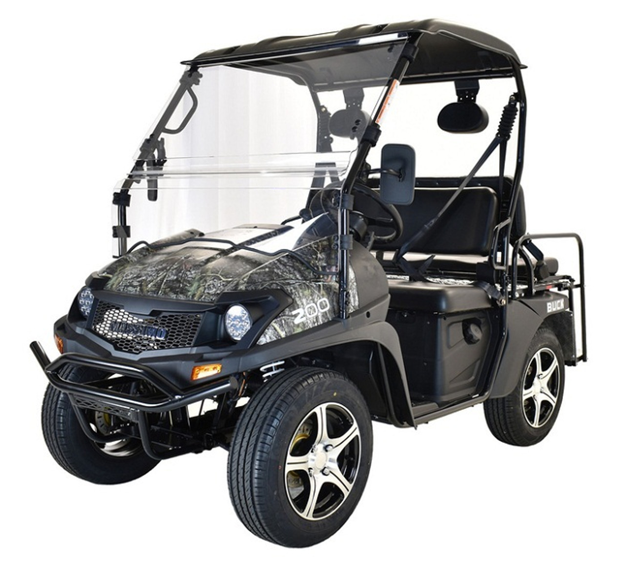 BLACK - MASSIMO BUCK 200X UTV, 177cc Four-Stroke, Single Cylinder