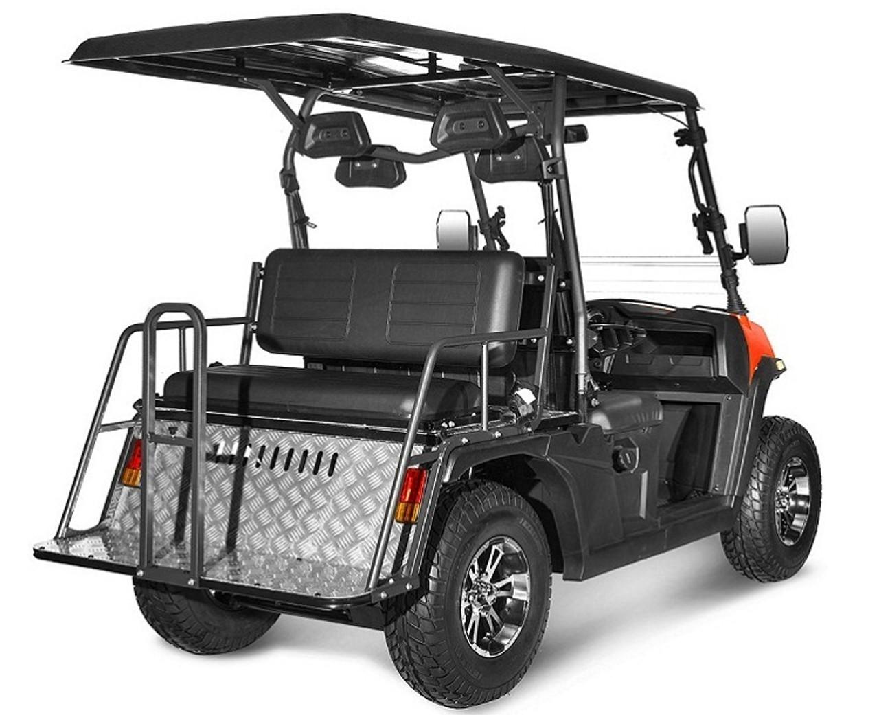 Burgundy - Vitacci Rover-200 EFI 169cc (Golf Cart) UTV, 4-stroke, Single-cylinder, Oil-cooled