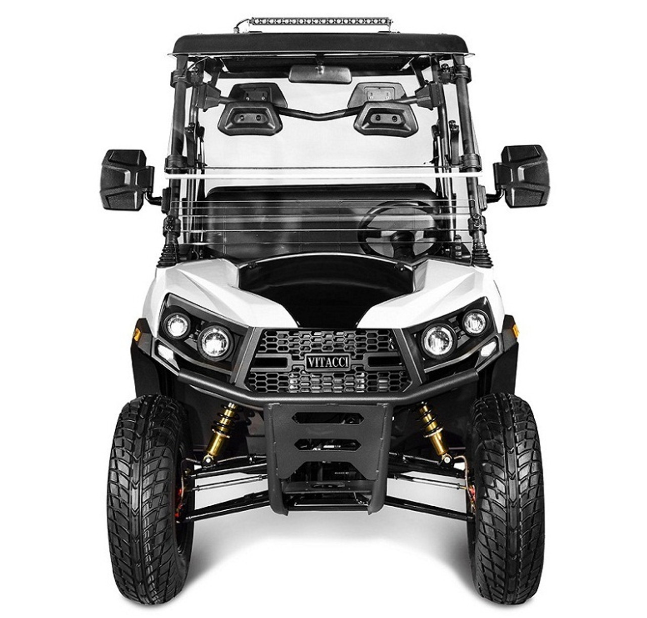 White - Vitacci Rover-200 EFI 169cc (Golf Cart) UTV, 4-stroke, Single-cylinder, Oil-cooled
