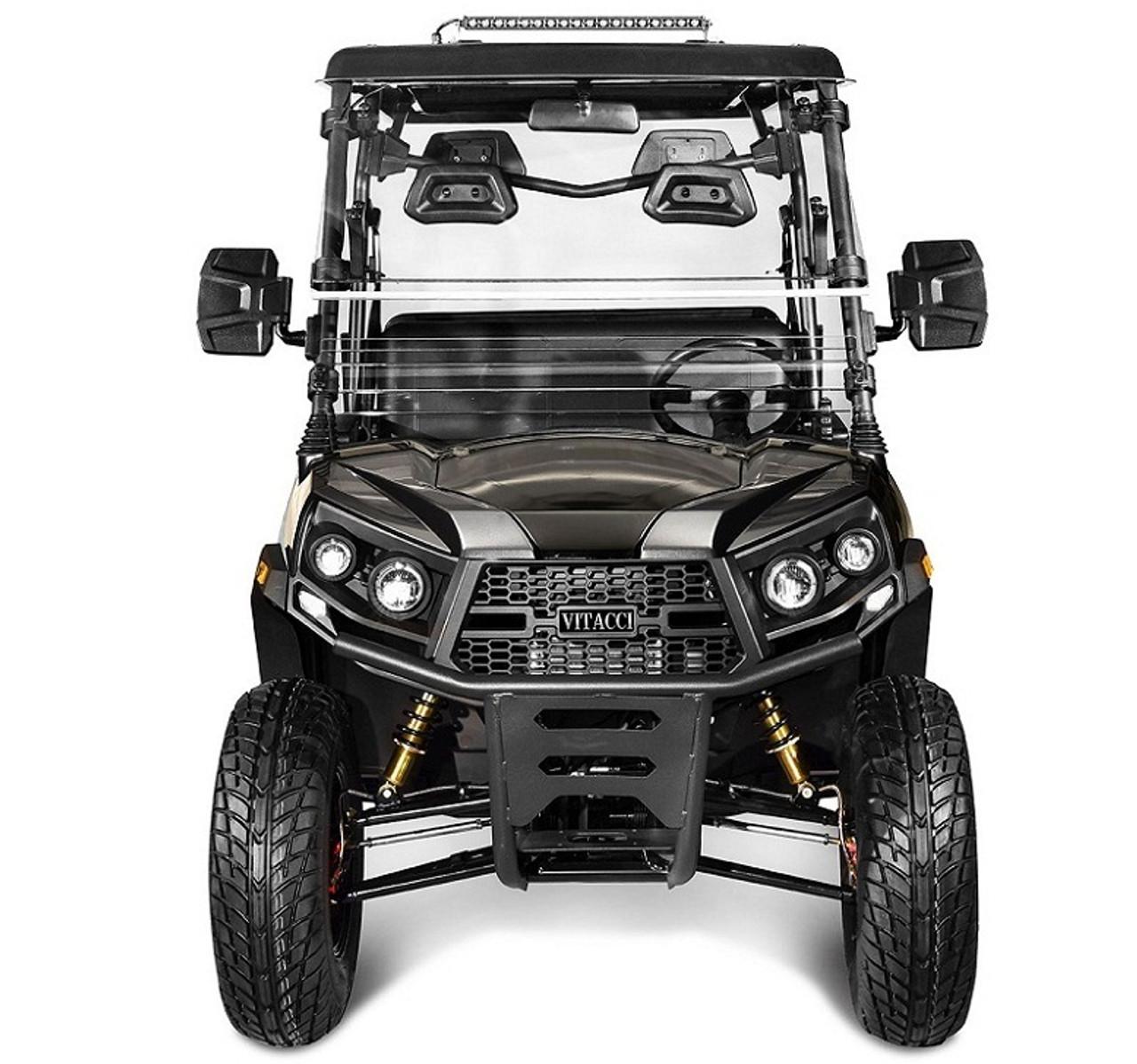 Black - Vitacci Rover-200 EFI 169cc (Golf Cart) UTV, 4-stroke, Single-cylinder, Oil-cooled