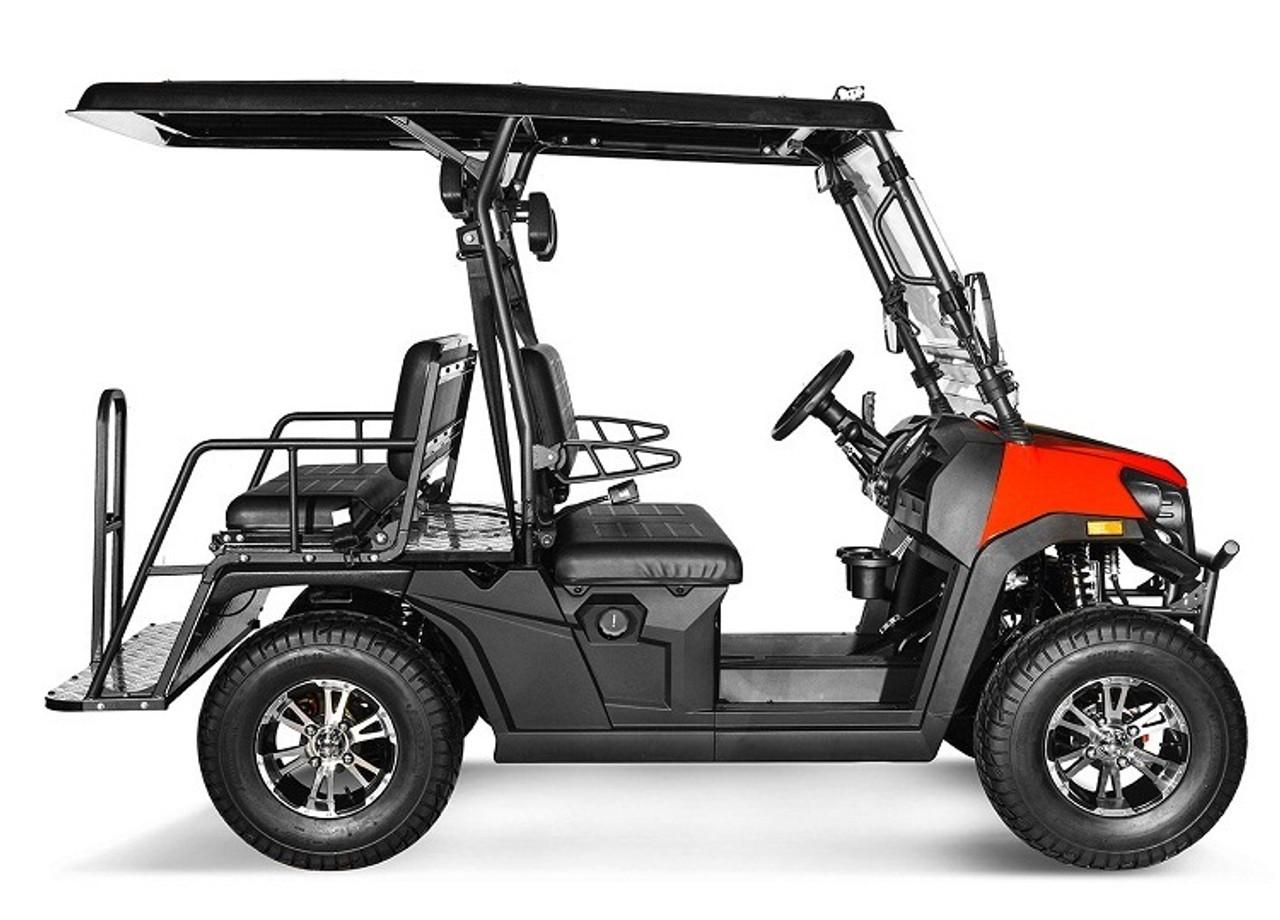 Burgundy - Vitacci Rover-200 EFI 169cc (Golf Cart) UTV, 4-stroke, Single-cylinder, Oil-cooled - Fully Assembled and Tested