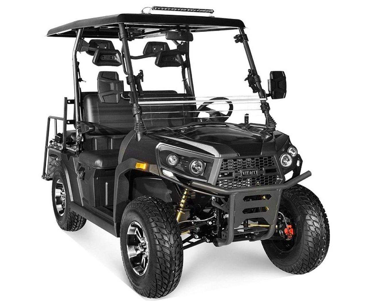 Black - Vitacci Rover-200 EFI 169cc (Golf Cart) UTV, 4-stroke, Single-cylinder, Oil-cooled - Fully Assembled and Tested