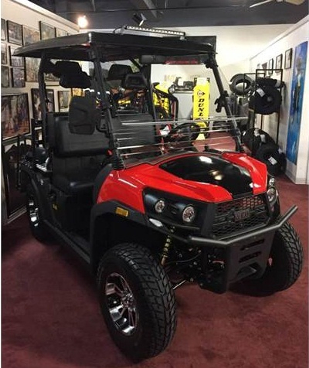 Red - Vitacci Rover-200 EFI 169cc (Golf Cart) UTV, 4-stroke, Single-cylinder, Oil-cooled - Fully Assembled and Tested