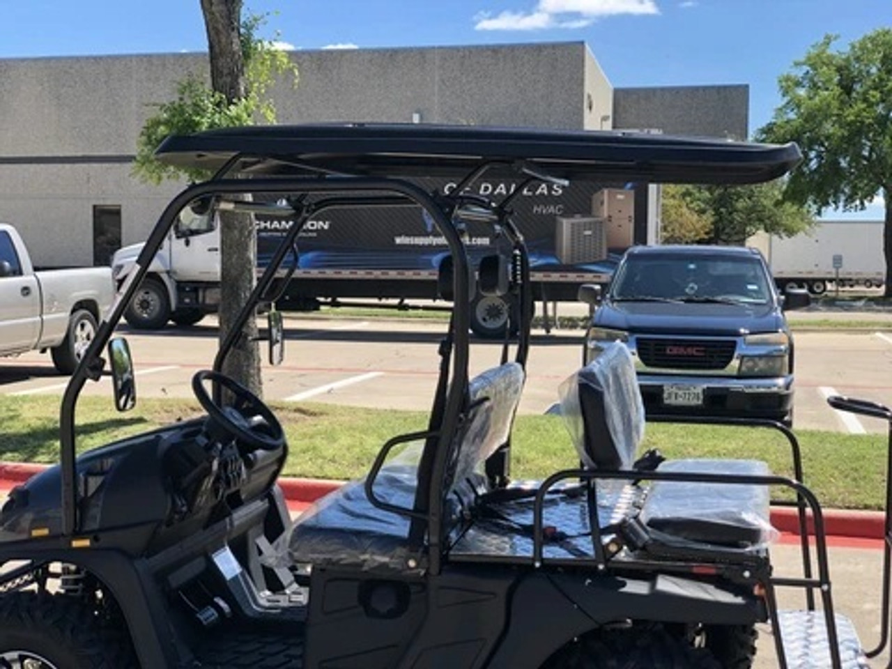 BLACK - Cazador Outfitter 200x Fully Loaded Golf Cart 4 seater