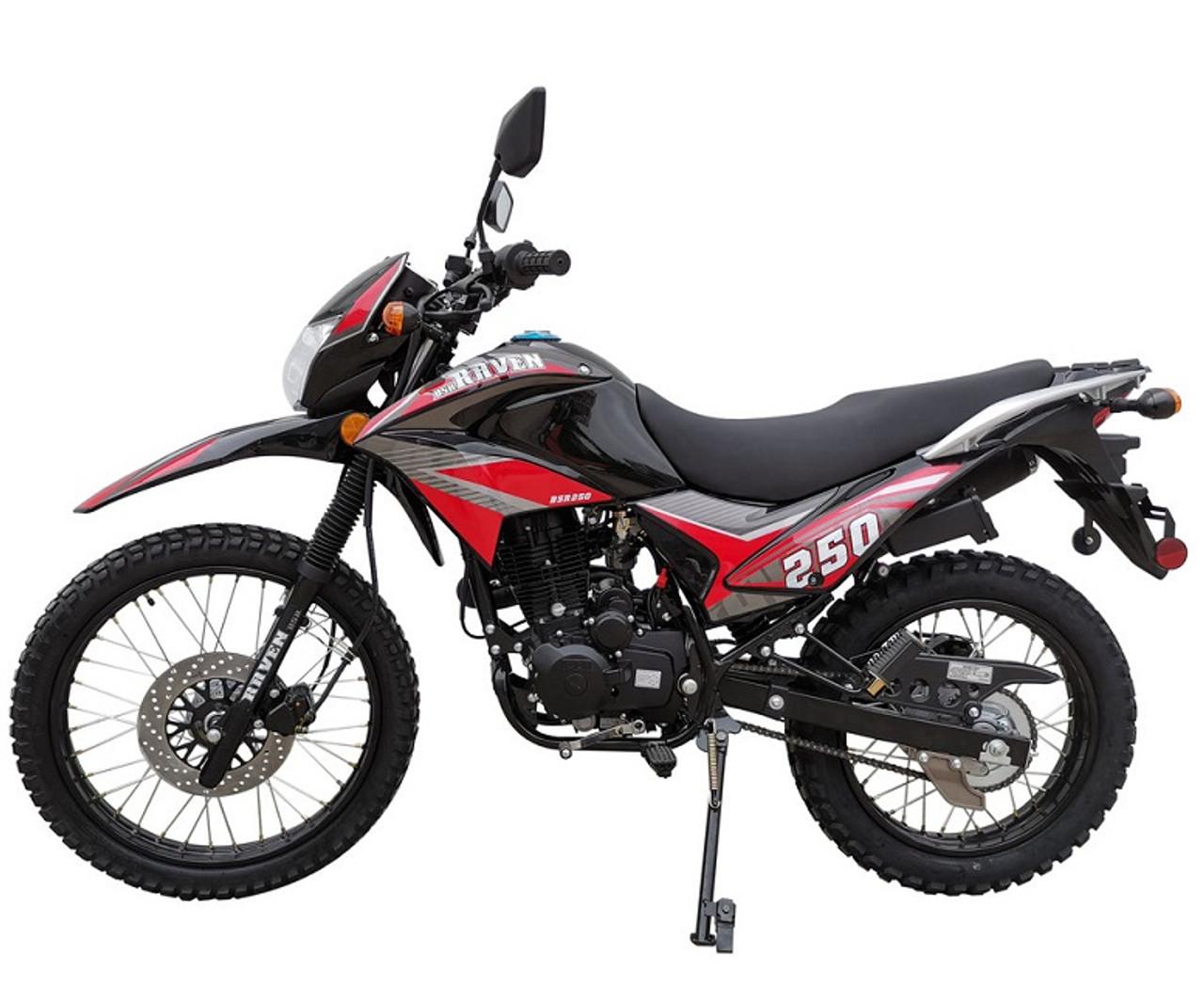 New Vitacci Raven 250cc XL Dual Sports Street Legal Bike - Fully Assembled And Tested
