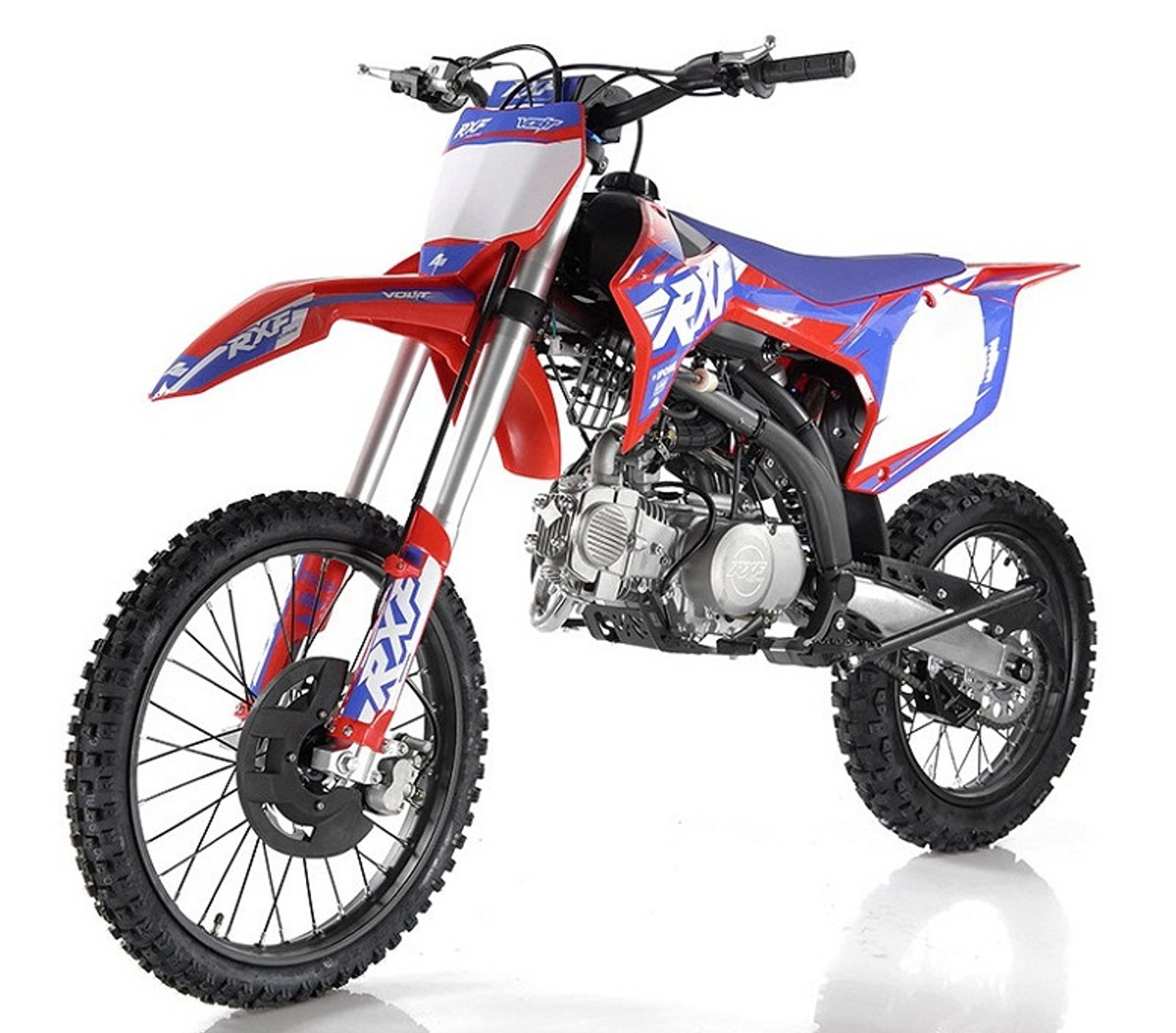 Apollo RXF 150 LMAX Freeride 140cc Dirt Bike, Manual Transmission, (16'/19') tires, Large Frame