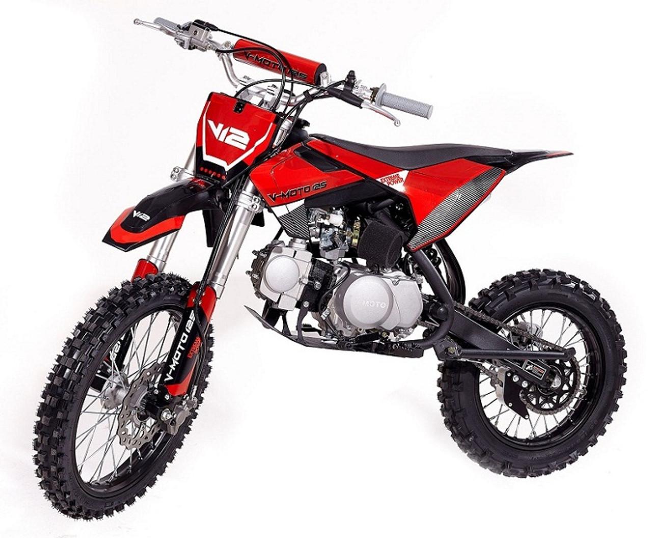 VITACCI DB-V12 124cc Dirt Bike, 5 Speed Manual, 4-Stroke, Air Cooled