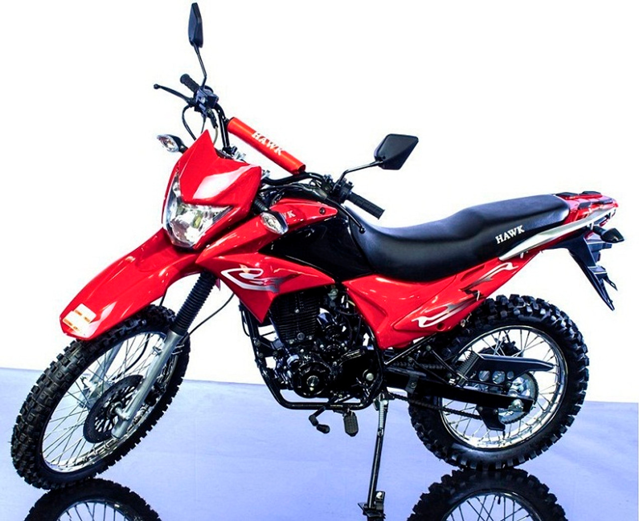 New Hawk 250cc Dirt Bike Dual Sports Enduro Street Legal With Bluetooth Speaker and Phone Holder