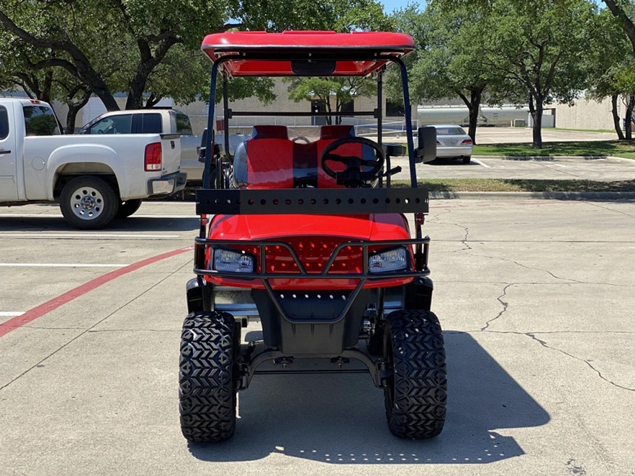 DYNAMIC ENFORCER LSV GOLF CART RED