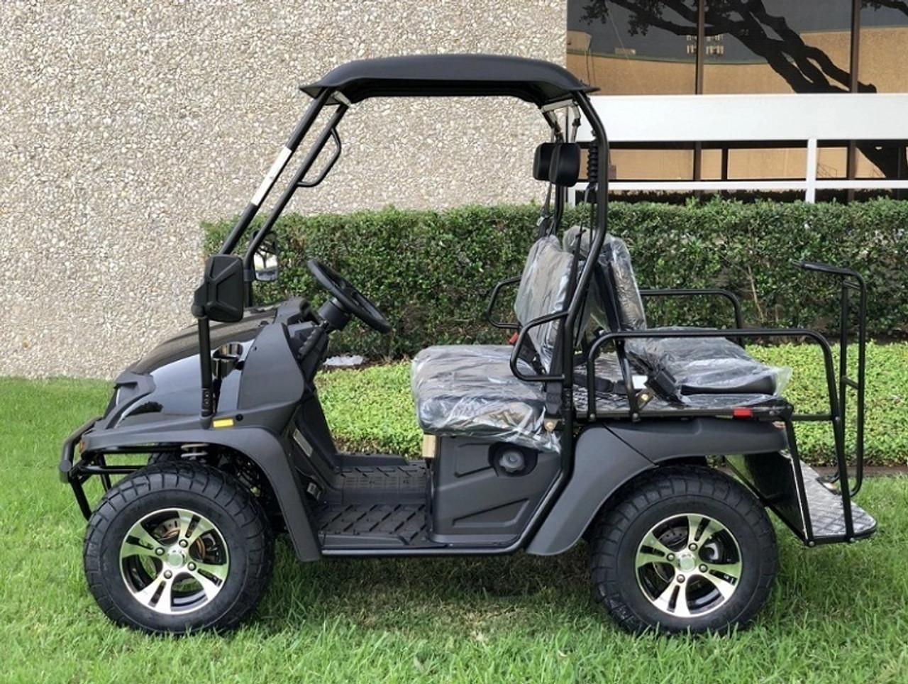 Black - Fully Loaded Cazador OUTFITTER 200 EFI Golf Cart 4 Seater UTV