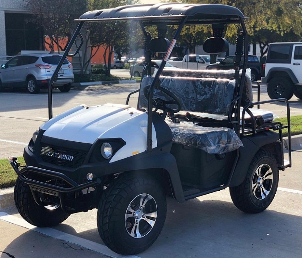White - Fully Loaded Cazador OUTFITTER 200 EFI Golf Cart 4 Seater UTV