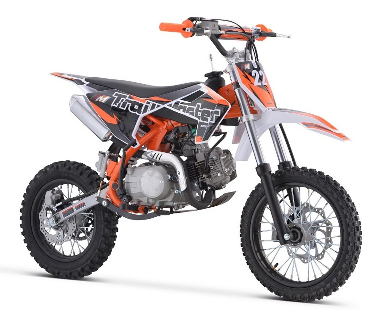 Trailmaster TM22 125cc Dirt Bike, Kick Start Manual Clutch