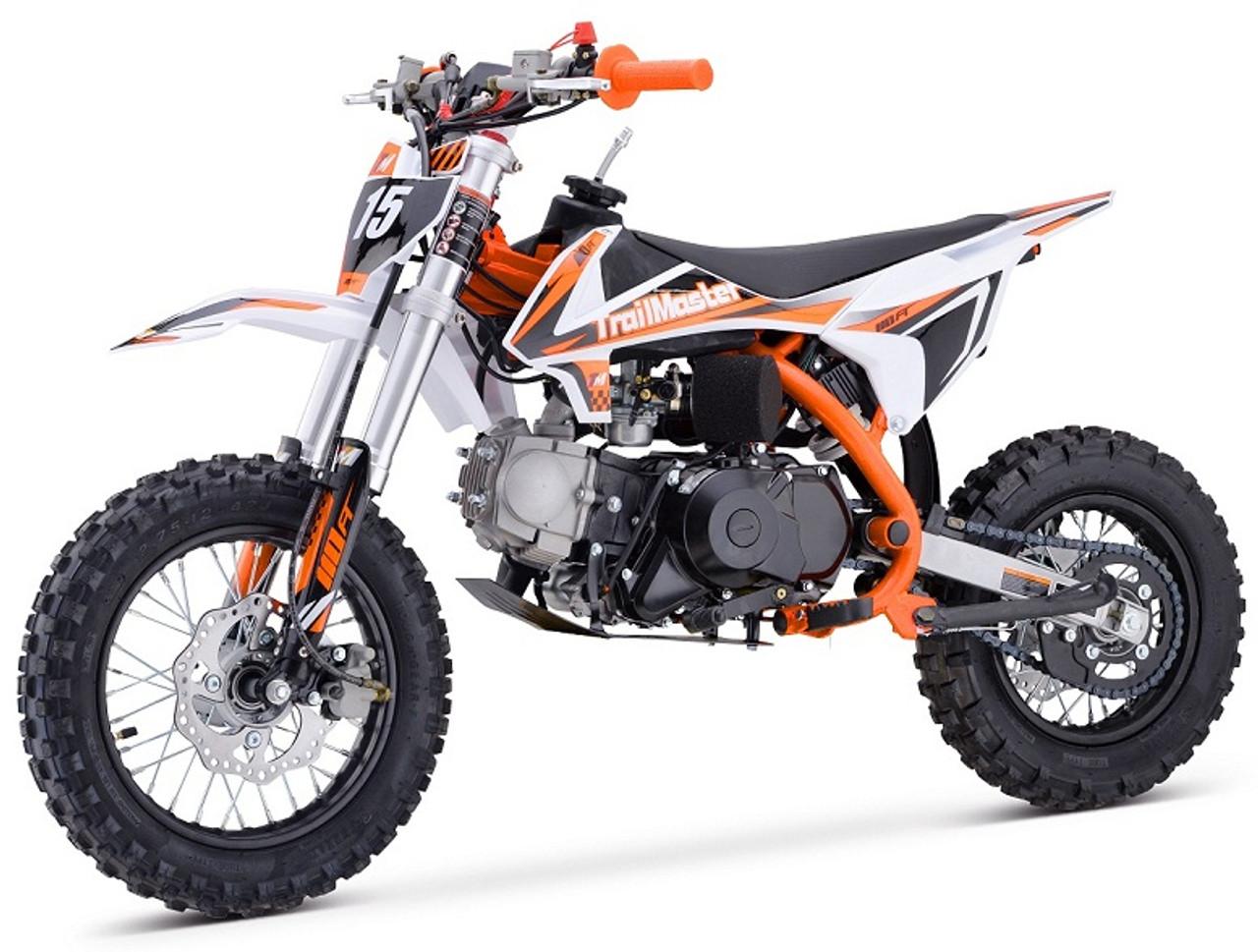 Trailmaster TM15 110cc Dirt Bike, Automatic Clutch Kick & Electric Start