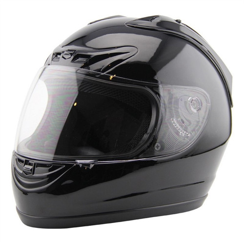 Amz Speeding Full Face Gloss Black Helmet