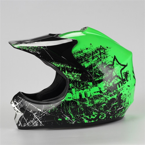 Coolster Motocross Full Face Helmet - Green