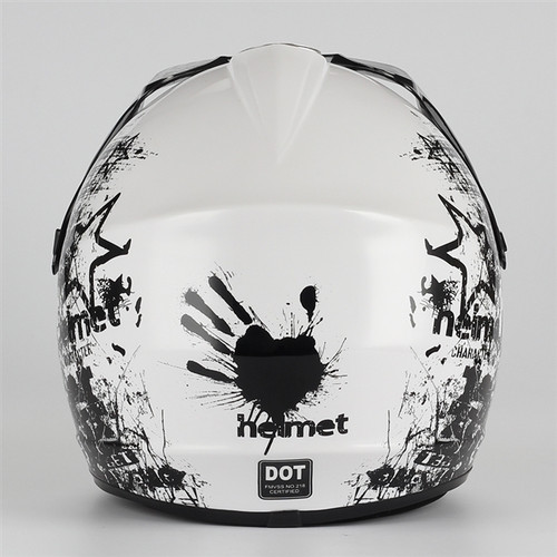 Coolster Motocross Full Face Helmet - White