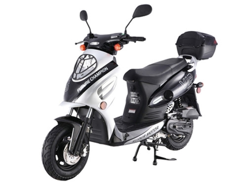 TAOTAO VIP-50 GAS AUTOMATIC SCOOTER MOPED ELECTRIC WITH KEYS, KICK START BACK UP SCOOTER