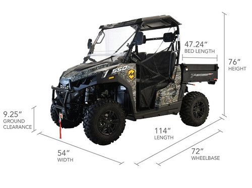 MASSIMO T-BOSS 550F UTV, 493CC FOUR STROKE SINGLE CYLINDER SOHC, LIQUID COOLED