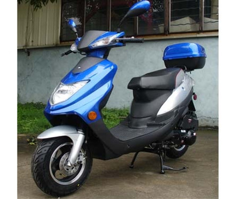 Roketa MC-123 150 Moped Scooter, 4-Stroke, Single Cylinder, Air Cooled, Eletric /kick Start